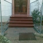 Natursteinarbeiten an einer Treppe